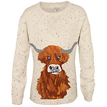 Buy Fat Face Girls' Highland Cow Jumper Online at johnlewis.com