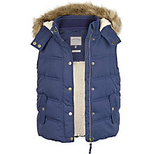 Buy Fat Face Girls' Abbey Gilet, Light Navy Online at johnlewis.com
