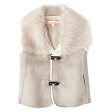 Buy Jigsaw Junior Girls' Faux Sheepskin Gilet, Oatmeal Online at johnlewis.com