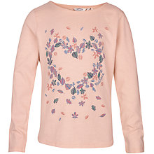 Buy Fat Face Girls' Leaf Heart Top, Pearl Online at johnlewis.com