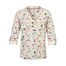 Buy Fat Face Girls' Long Sleeve Woodland Blouse, Ecru Online at johnlewis.com