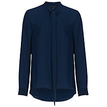 Buy French Connection Pippa Plains Long Sleeve Tie Neck Shirt, Nocturnal Online at johnlewis.com