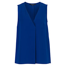 Buy French Connection Sleeveless Crepe Top, Blue Depths Online at johnlewis.com