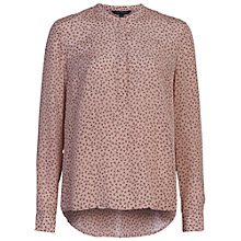 Buy French Connection Falaise Fleur Grandad Collar Shirt, Ballet Blush Online at johnlewis.com