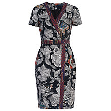 Buy French Connection Arabella Rose Cotton Dress, Black/Multi Online at johnlewis.com