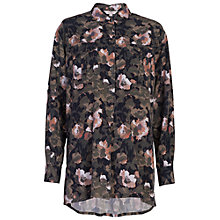Buy French Connection Adeline Dream Drape Pull Over Shirt, Olive/Multi Online at johnlewis.com