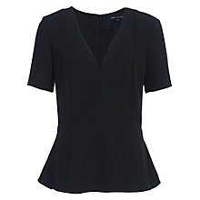 Buy French Connection Arrow Crepe V Neck Top, Nocturnal Online at johnlewis.com