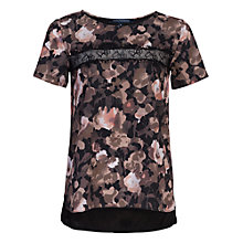 Buy French Connection Adeline Dream Short Sleeve Top, Olive Night Online at johnlewis.com