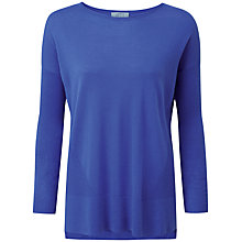 Buy Pure Collection Saul Featherweight Cashmere Jumper, Bluebell Online at johnlewis.com