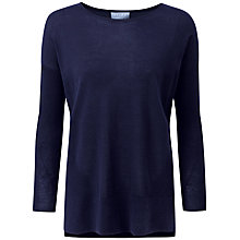Buy Pure Collection Teresa Featherweight Cashmere Jumper, Navy Online at johnlewis.com