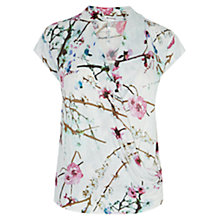 Buy Karen Millen Oriental Print Jersey Top, Multicolour Online at johnlewis.com