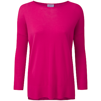 Pure Collection Adrianna Featherweight Cashmere Jumper, Summer Pink