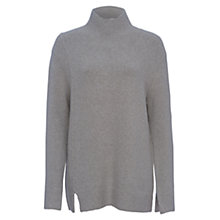 Buy French Connection Autumn RSVP High Neck Jumper, Light Grey Mel Online at johnlewis.com