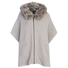 Buy French Connection Autumn Hooded Poncho, Light Grey Melange Online at johnlewis.com