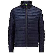 Buy BOSS Green Jeon Quilted Jacket, Navy Online at johnlewis.com