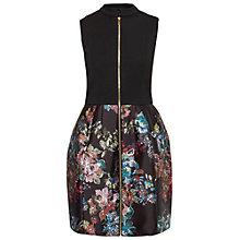 Buy Ted Baker Kierly Antique Botanical Full Dress, Black Online at johnlewis.com