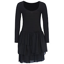Buy French Connection Tommy Ribbed Layered Dress, Black Online at johnlewis.com