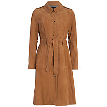 Buy French Connection Tara Suede Belted Coat, Manuka Online at johnlewis.com