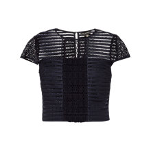 Buy Ted Baker Lukah Sheer Panel Cropped Top Online at johnlewis.com