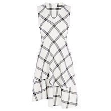 Buy Karen Millen Full Skirt Check Dress, Cream/Multi Online at johnlewis.com