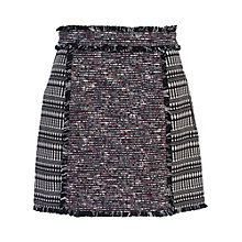 Buy French Connection Pixel Tweed Mini Skirt, Multi Online at johnlewis.com