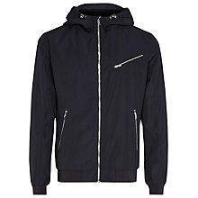 Buy Reiss Reynolds Hooded Jacket, Navy Online at johnlewis.com
