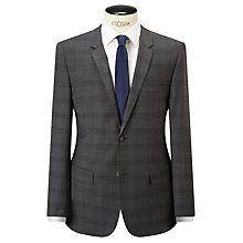 Buy Calvin Klein Check Wool Tailored Suit Jacket, Iron Online at johnlewis.com