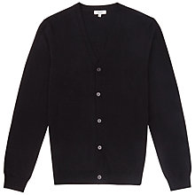 Buy Reiss Walter Merino Wool Cardigan, Navy Online at johnlewis.com