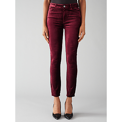 Paige Hoxton Ankle Skinny Jeans, Ruby