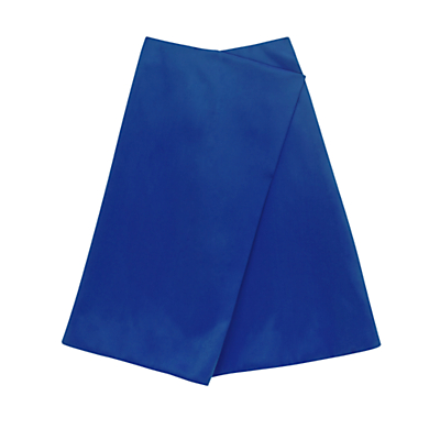Finery Belshaw Fold A-Line Skirt, Blue