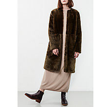 Buy Parka London Evie Faux Fur Coat, Olive Online at johnlewis.com