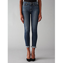 Buy Paige Hoxton Crop Roll Up Skinny Jeans, Fletcher Online at johnlewis.com