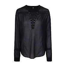 Buy Paige Tansy Blouse, Black Online at johnlewis.com