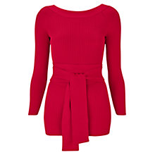 Buy Finery Colinette Tie Wrap Detail Jumper, Crimson Red Online at johnlewis.com