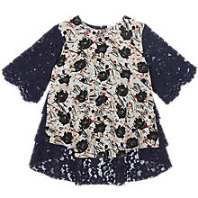 Buy Finery Selby Lace Back Scratchy Floral T-Shirt, Multi Online at johnlewis.com