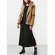 Buy Parka London Aya Faux Fur Lined Jacket, Light Khaki Online at johnlewis.com