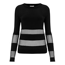 Buy Finery Whitby Ripple Stitch Jumper, Black Online at johnlewis.com