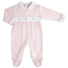 Buy Mini La Mode Baby Fairies Pima Footsie Sleepsuit, Pink Online at johnlewis.com