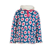 Buy Frugi Organic Girls' Floral Snuggle Fleece, Navy/Multi Online at johnlewis.com