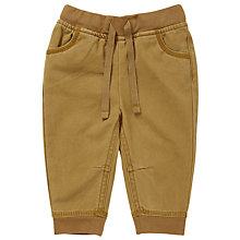 Buy John Lewis Baby Twill Joggers, Toffee Online at johnlewis.com