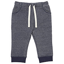 Buy John Lewis Baby Textured Jersey Joggers, Grey Online at johnlewis.com