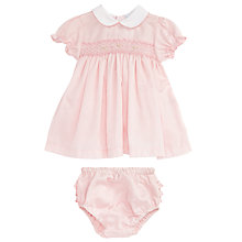 Buy Mini La Mode Baby Katy Pima Summer Dress, Pink Online at johnlewis.com