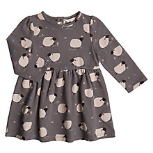 Buy John Lewis Baby Sheep Jersey Dress, Grey Online at johnlewis.com