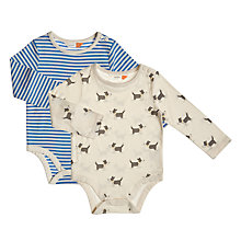 Buy John Lewis Baby Dog and Stripe Bodysuit, Pack of 2, Multi Online at johnlewis.com