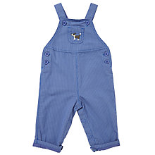 Buy John Lewis Baby Dog Emblem Dungarees, Blue Online at johnlewis.com