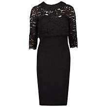 Buy Gina Bacconi Moss Crepe Dress With Lace Overtop, Black Online at johnlewis.com