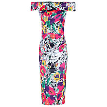 Buy Jolie Moi Floral Bardot Neckline Dress Online at johnlewis.com