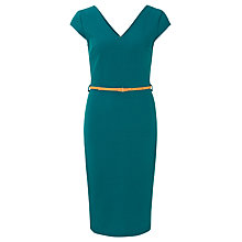 Buy Sugarhill Boutique Kirsty Fitted Shift Dress, Blue Teal Online at johnlewis.com
