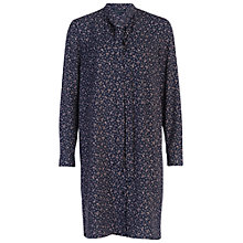 Buy French Connection Falaise Fleur Shirt Dress, Utility Blue Online at johnlewis.com