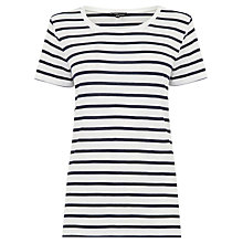 Buy Warehouse Classic Stripe T-Shirt, Blue Online at johnlewis.com